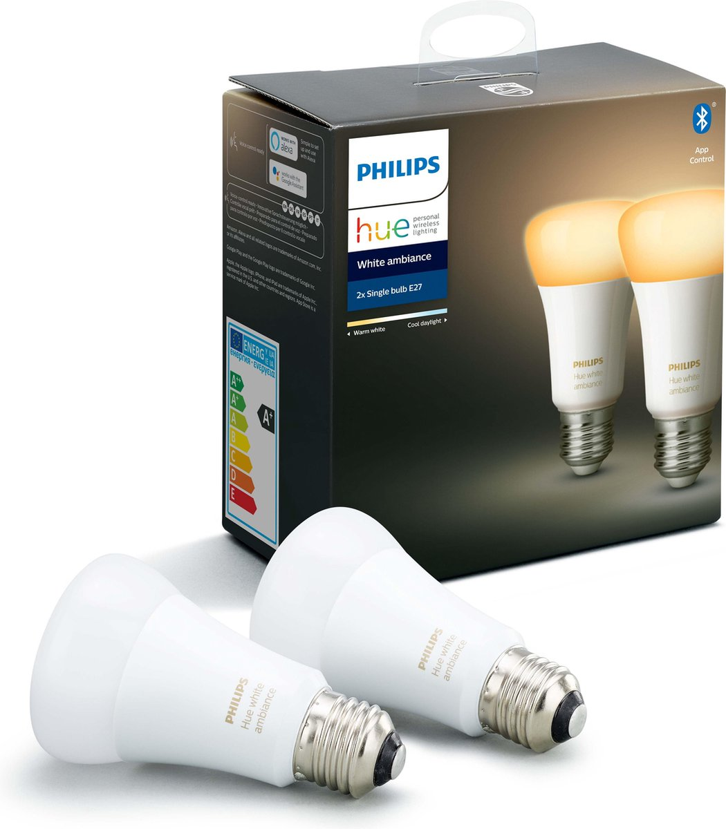 Philips Hue Duopack – White Ambiance – E27 – 2 Lampen – Bluetooth