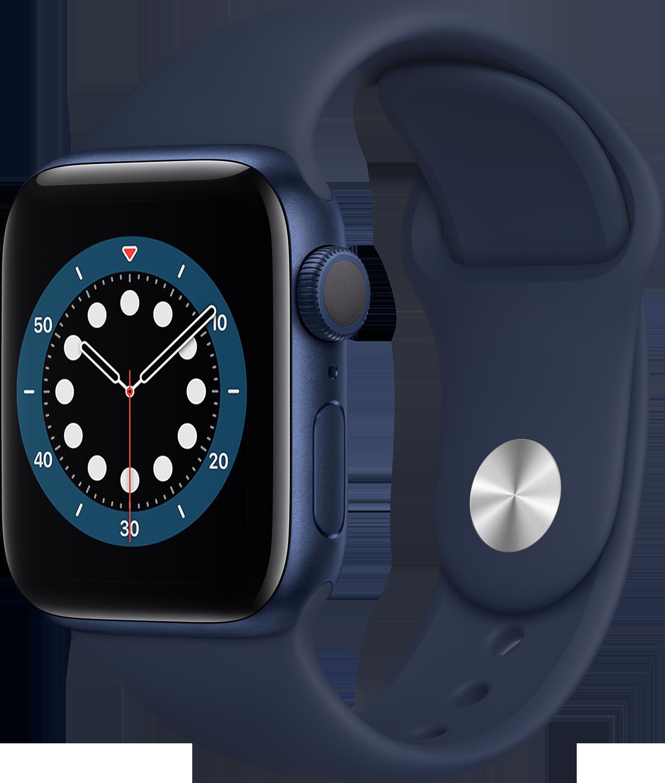 APPLE Watch Series 6 40mm blauw aluminium / blauwe sportband