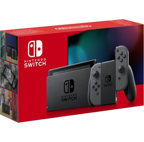 Nintendo Switch-console met een paar Joy-Con Gray
