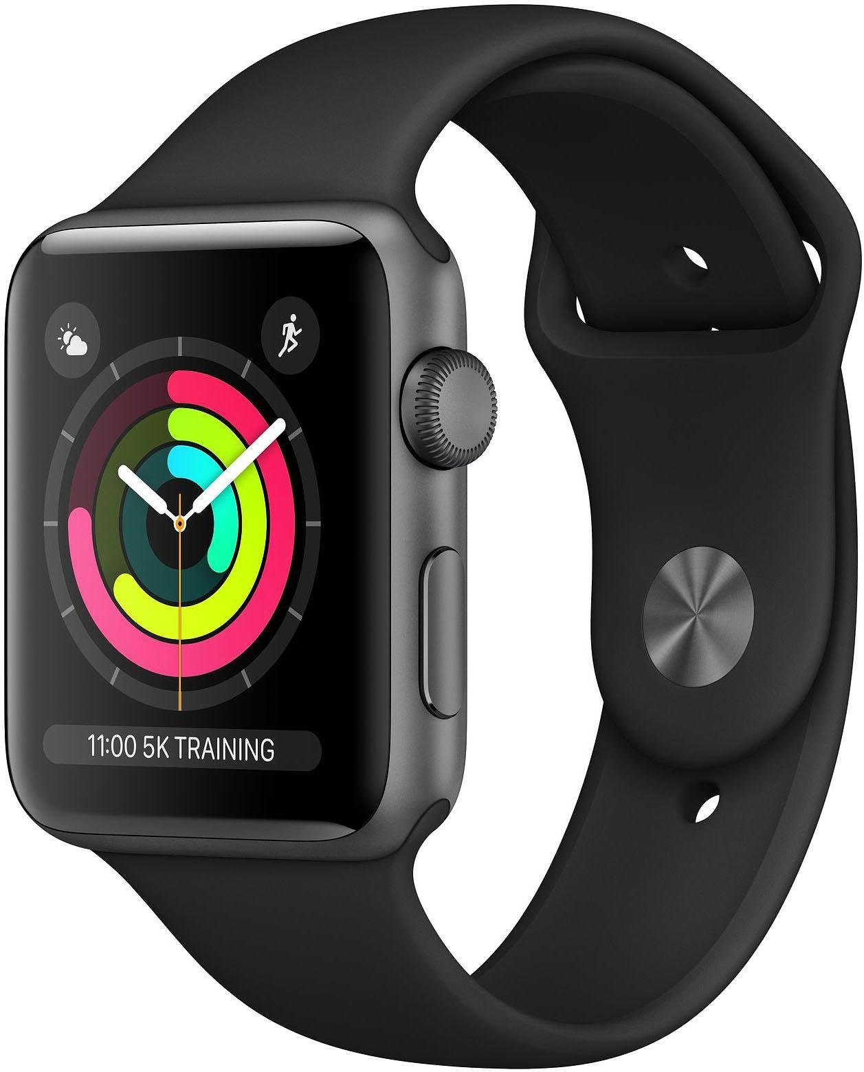 Apple Series 3 GPS, aluminiumkast met sportarmband 38 mm Watch (watchOS 5)
