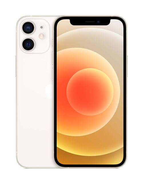 Apple iPhone 12 mini 5,4″ 64 Go Double SIM 5G Blanc