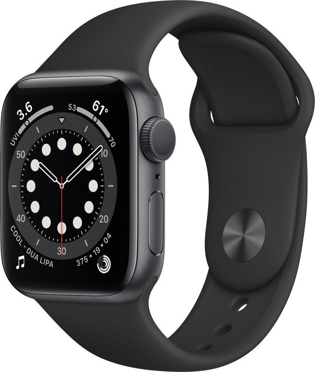 Apple Watch Series 6 – Gerenoveerd door SUPREME MOBILE – A GRADE – 40 mm – GPS – Spacegrijs / zwarte band