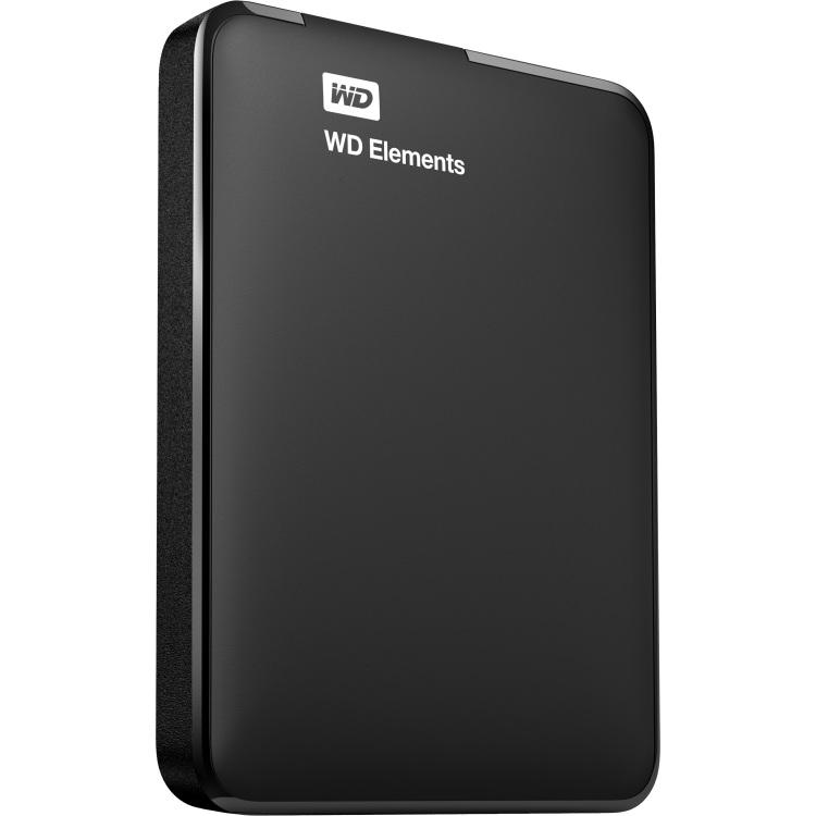 WD Elements Portable, 1 TB externe Harde schijf WDBUZG0010BBK-WESN, Micro-USB-B 3.2 (5 Gbit/s)