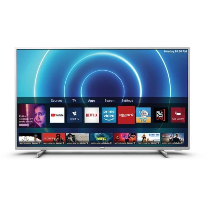 PHILIPS 50PUS7555/12 TV LED UHD 4K – 50-(126cm) – Dolby Vision – Son Dolby Atmos – Smart TV – 3xHDMI – 2xUSB – Classe énergétique A+
