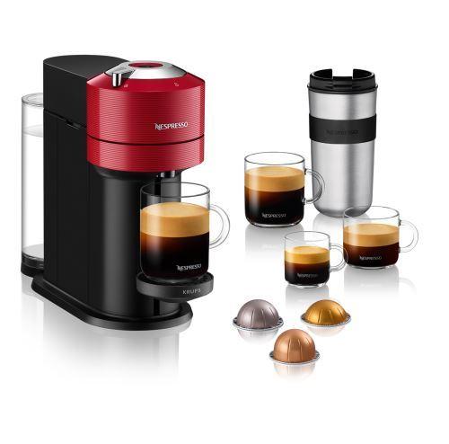 Cafetière à capsules Nespresso Vertuo Next YY4296FD 1,1L Rouge