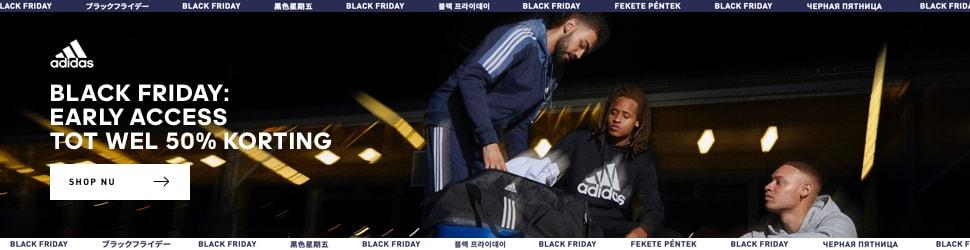 Black Friday: early access tot wel 50% korting bij adidas