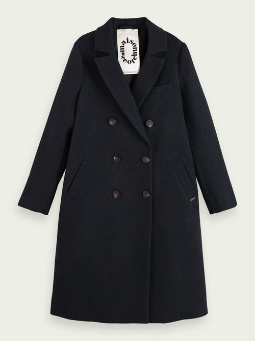 Scotch & Soda Wool-blend double breasted tailored coat