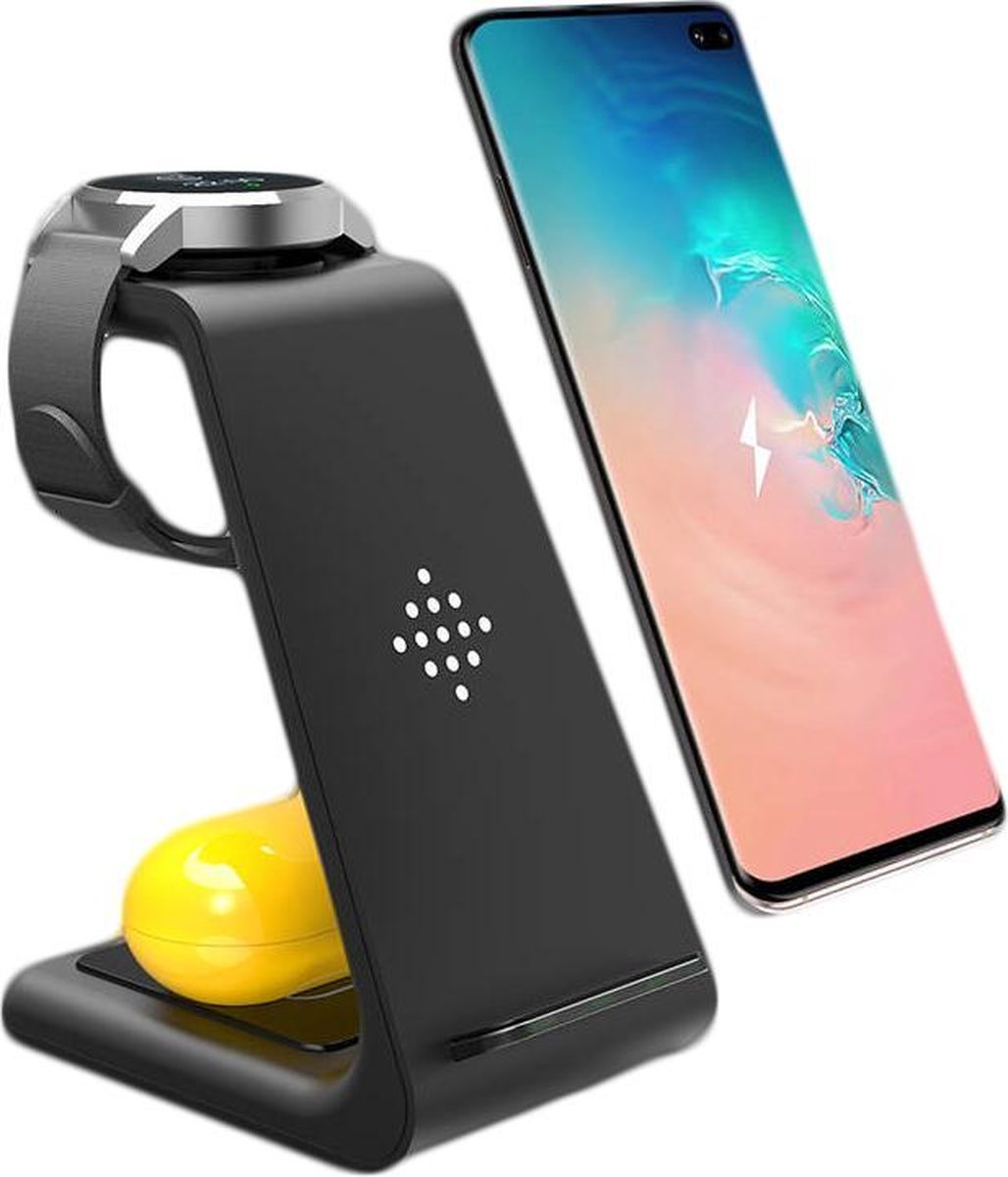 MW® 3-in-1 Draadloze Samsung Oplader – Android telefoons, Samsung Watch en Galaxy Buds – Qi Lader