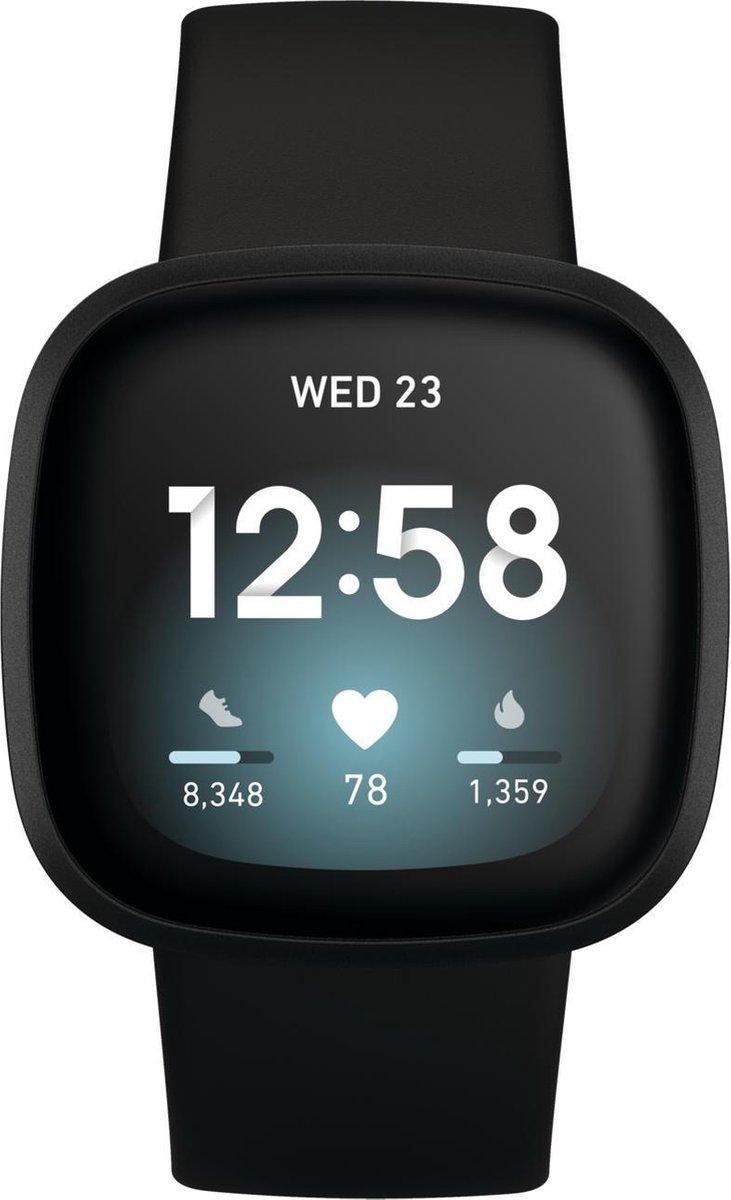 Fitbit Versa 3 – Smartwatch – Zwart