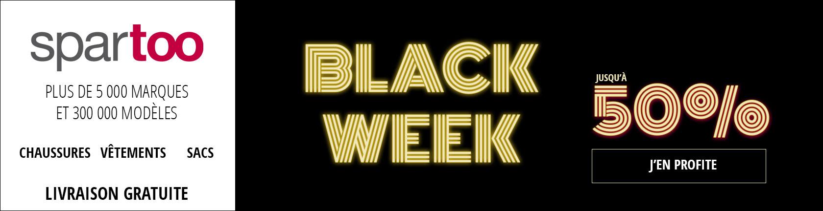 Spartoo plus de 5000 marques et 300000 modèles Black week -50%