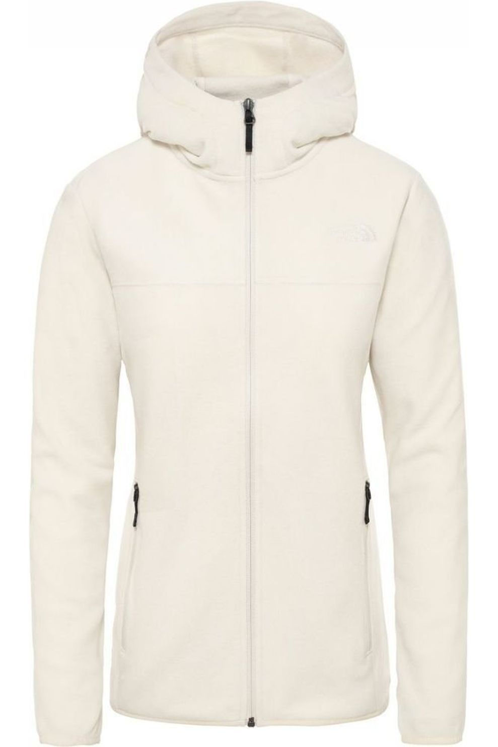 The North Face Fleece Tka Glacier Full Zip Hoodie voor dames – Wit – Maat: L