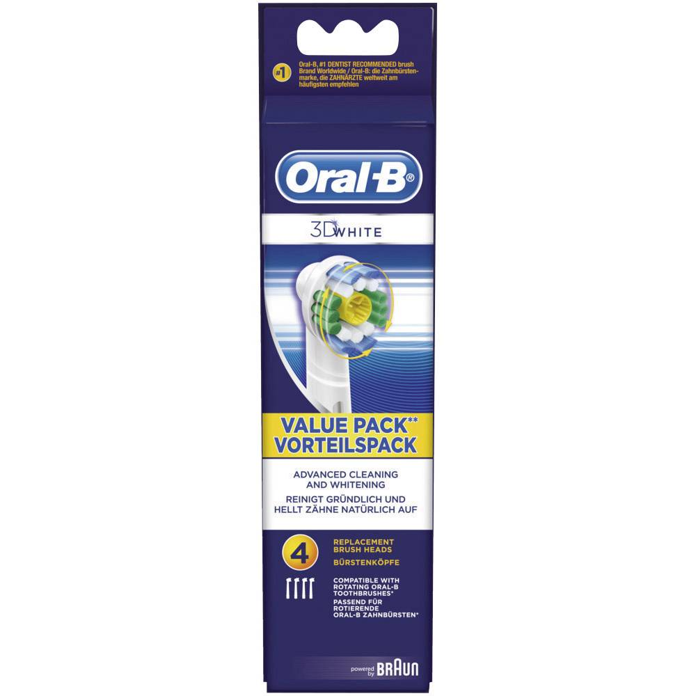 Opzetborstel voor elektrische tandenborstel Oral-B 3D-White 4 stuk(s) Wit