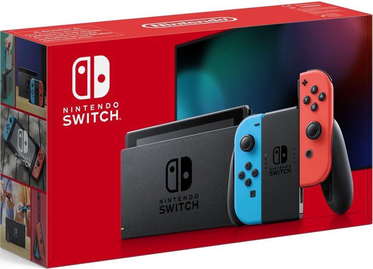 Nintendo Switch Rood /Blauw – Verbeterde accuduur – nieuw model