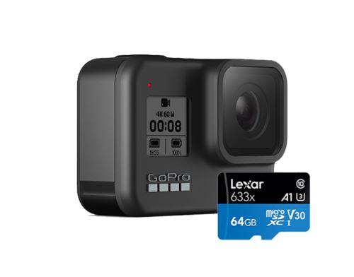 GoPro HERO 8 Black Caméra Sport Wi-Fi et Bluetooth avec 64Go carte
