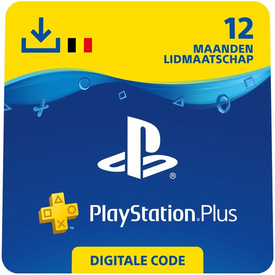 PlayStation Plus 12 maanden - PSN Playstation Network Kaart - BE
