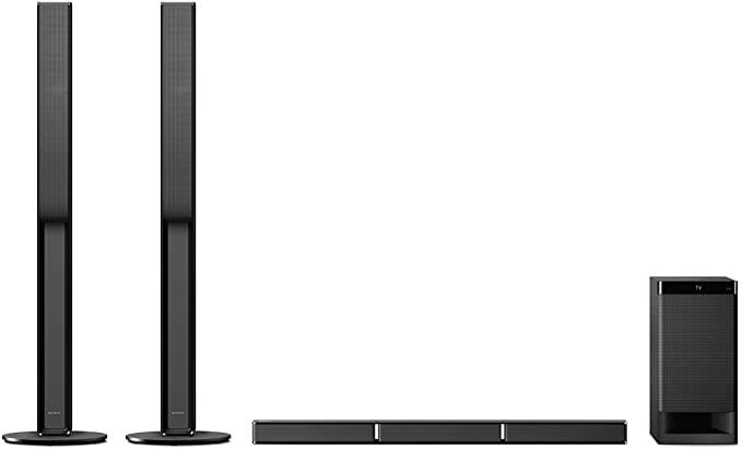 Sony HT-RT4, 5.1 Soundbar System (600W, Hoge Luidsprekers Aan De Achterkant, Hdmi, Usb, Nfc/Bluetooth), Zwart