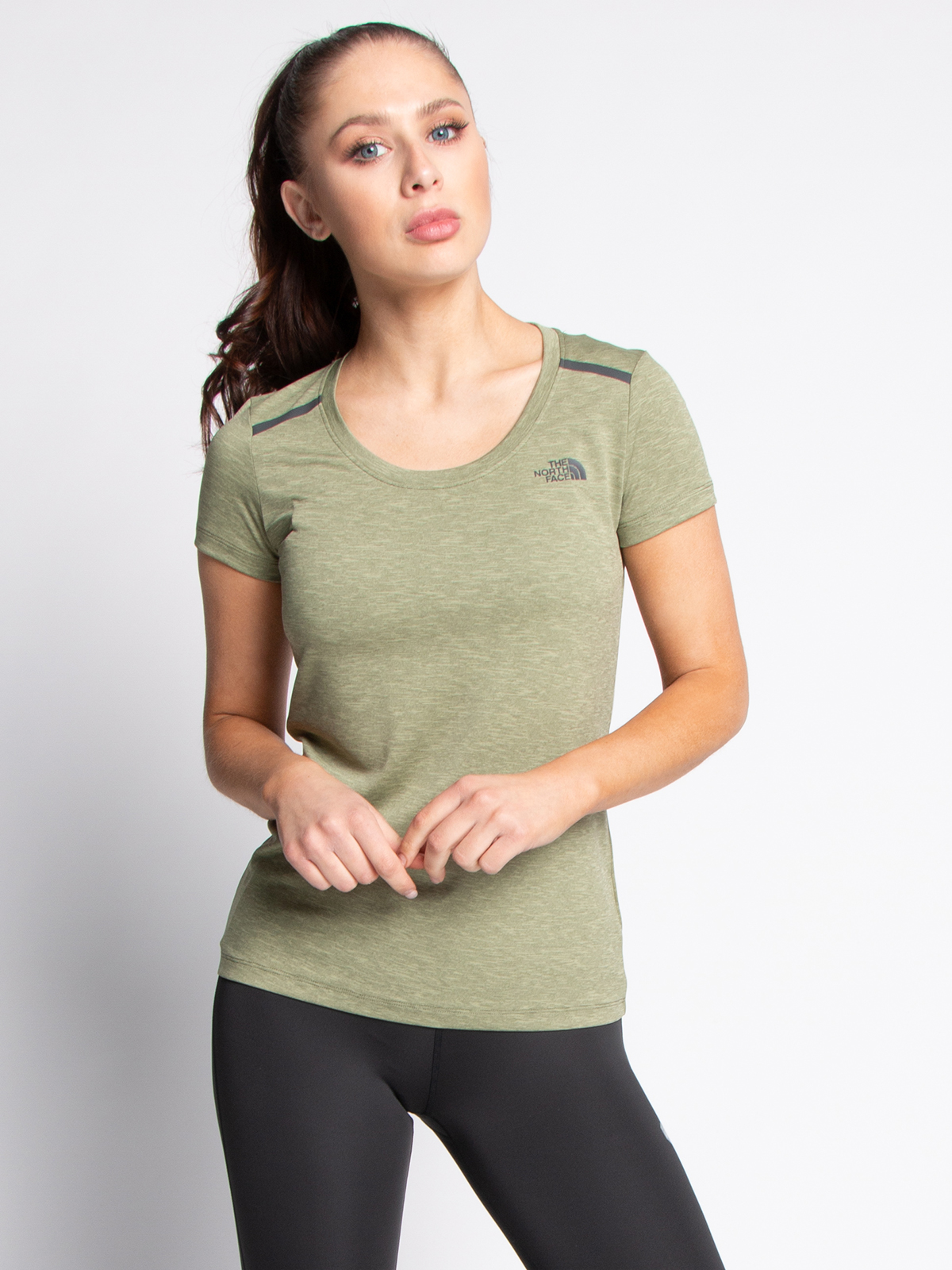 The North Face T-shirt in groen voor Dames, grootte: XL