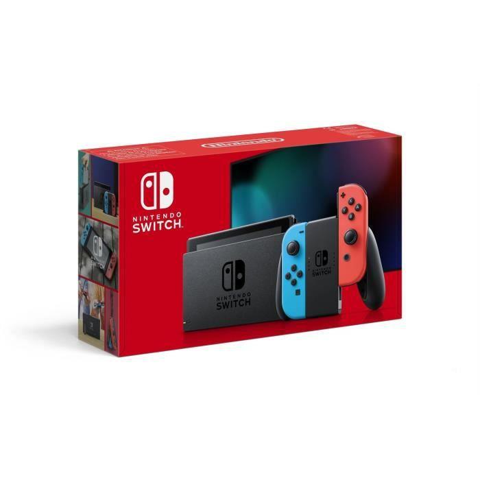Console Nintendo Switch Néon: Nouvelle version, Meilleure autonomie – avec un Joy-Con bleu néon et un Joy-Con rouge néon