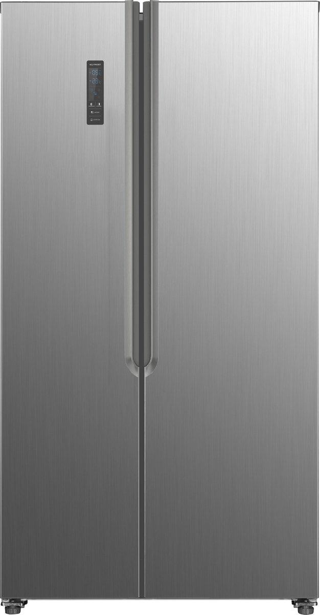 Frilec BONNSBS636-4A++INOX – Amerikaanse Koelkast – RVS
