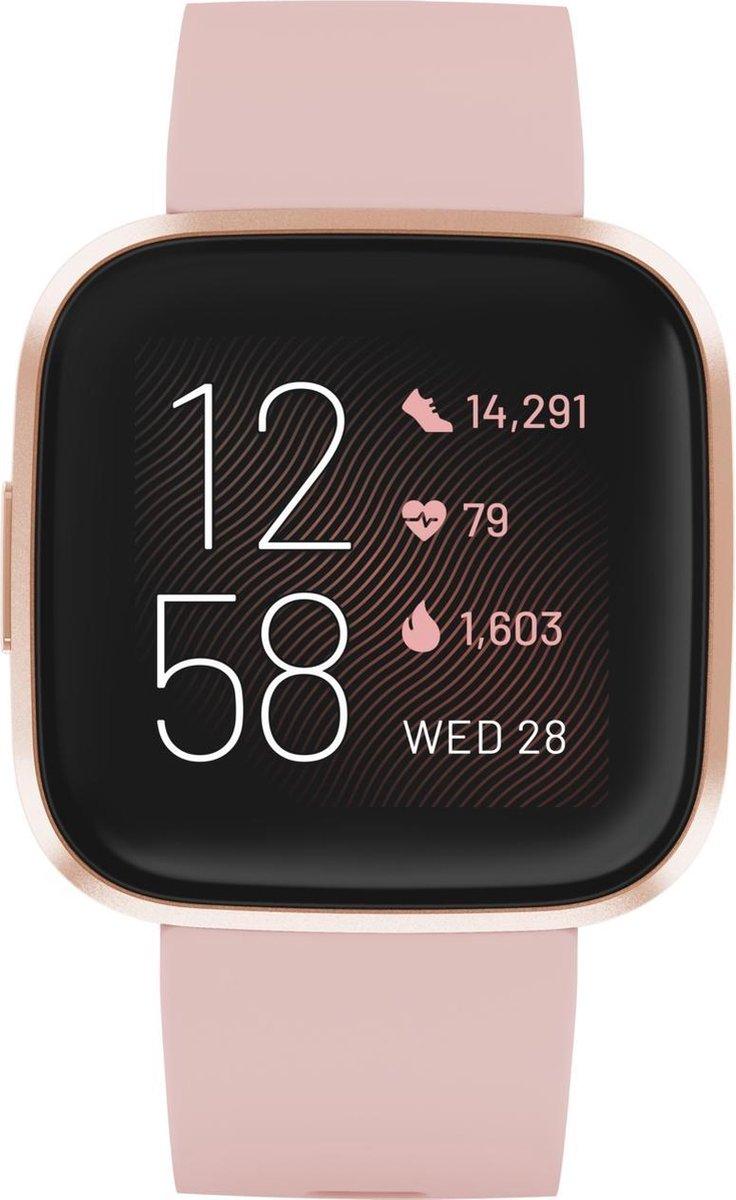Fitbit Versa 2 – Smartwatch dames – Roze koper