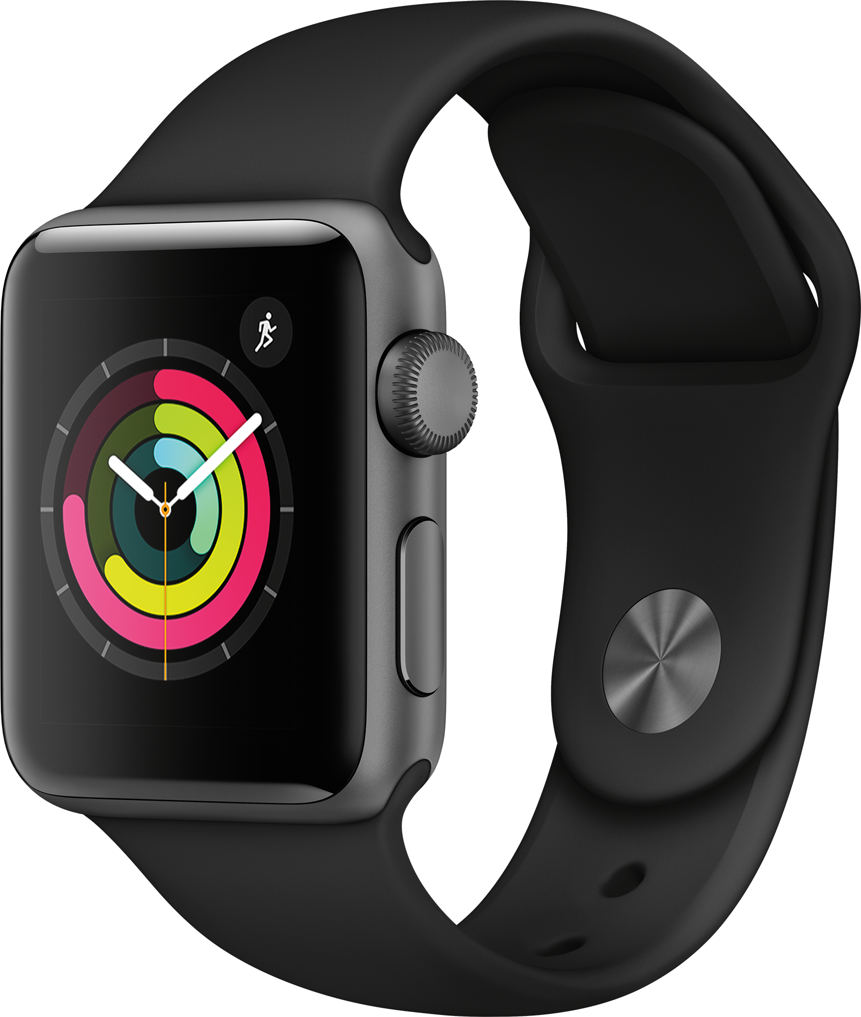 APPLE Watch Series 3 38mm spacegrijs aluminium / zwart sportbandje