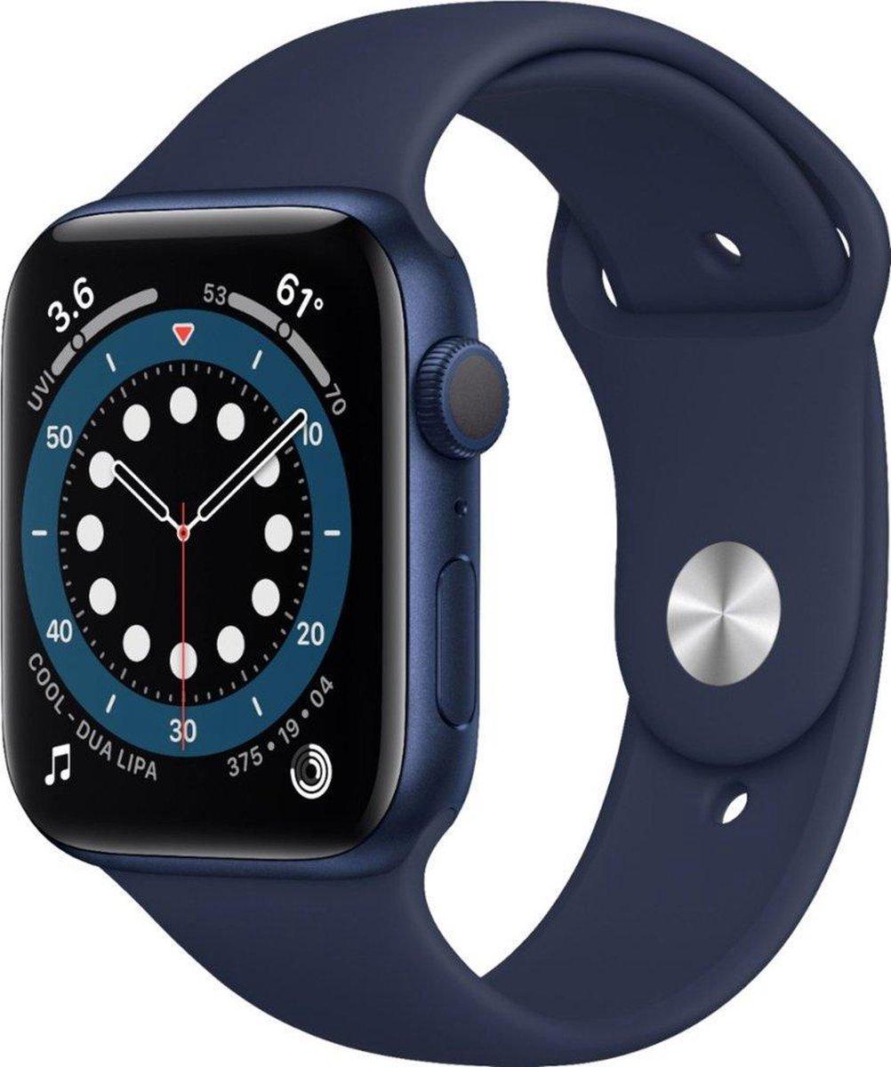 Apple Watch Series 6 – Gerenoveerd door SUPREME MOBILE – A GRADE – 44 mm – GPS – Blauw / Diepe marine band
